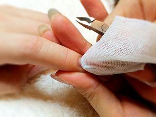 爪を磨くようす