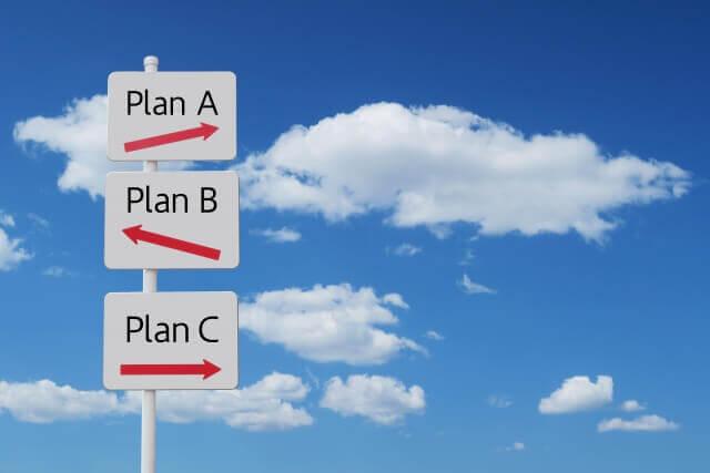 ビジネスプランABCの3択の道しるべと青空