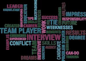 仕事に関する単語が並ぶ