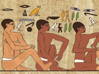 マッサージの壁画