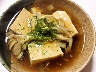 きのこと豆腐のうま煮