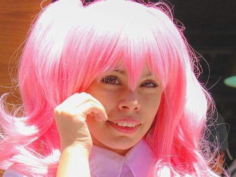 ピンク 髪