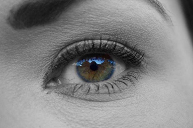 目のアップ