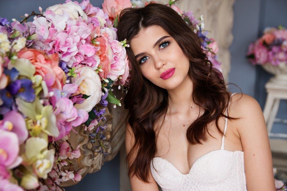 化粧バッチの花嫁