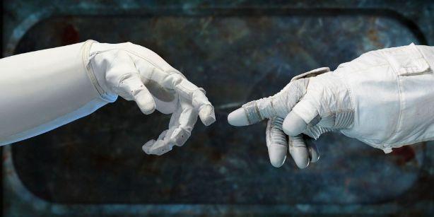 ロボット同士の手