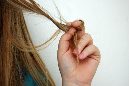 赤毛の長髪