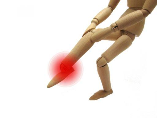 足の痛い場所