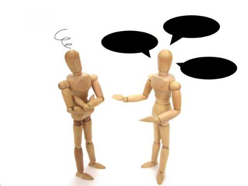 コミュニケーションに悩む様子