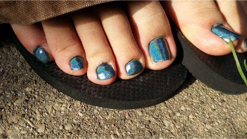 足指のネイル