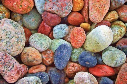 カラフルな石