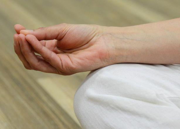 ヨガの手のポージング