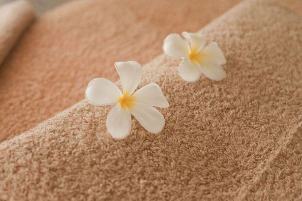 タオルに花