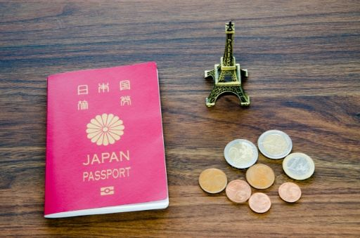 パスポートとコイン