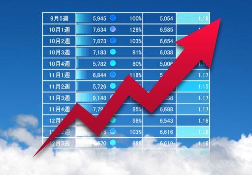 グラフと月の売り上げ表