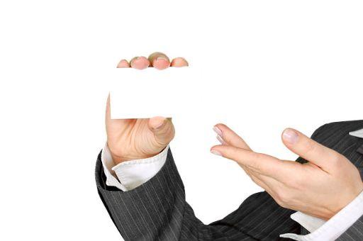 真っ白なビジネスカード