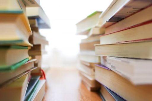 積み上げた本